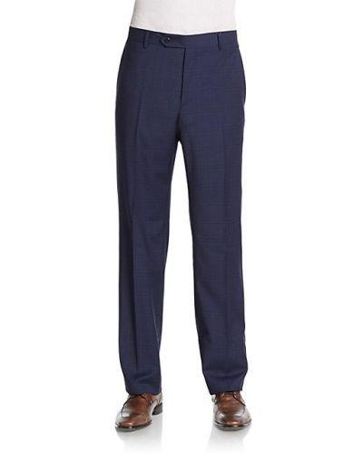 Синие брюки в клетку с карманами Zanella