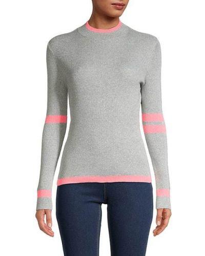 Czarny długi sweter bawełniany z długimi rękawami Central Park West