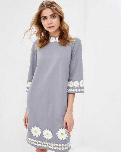 Повседневное платье весеннее серое Madam T