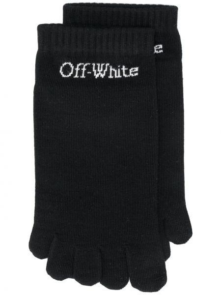 Хлопковые вязаные белые носки Off-white