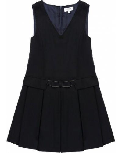 Платье мини с поясом из вискозы Aletta