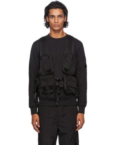 Черная жилетка с карманами без рукавов C.p. Company