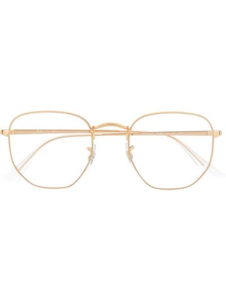 Желтые очки круглые прозрачные Ray-ban