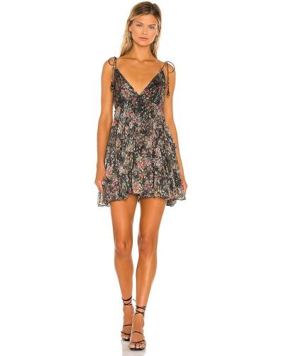 Czarna sukienka długa z szyfonu Rococo Sand