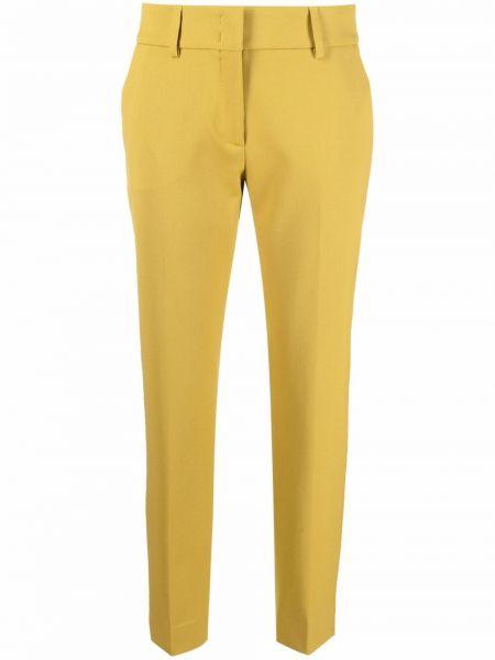 Żółte spodnie wełniane Piazza Sempione