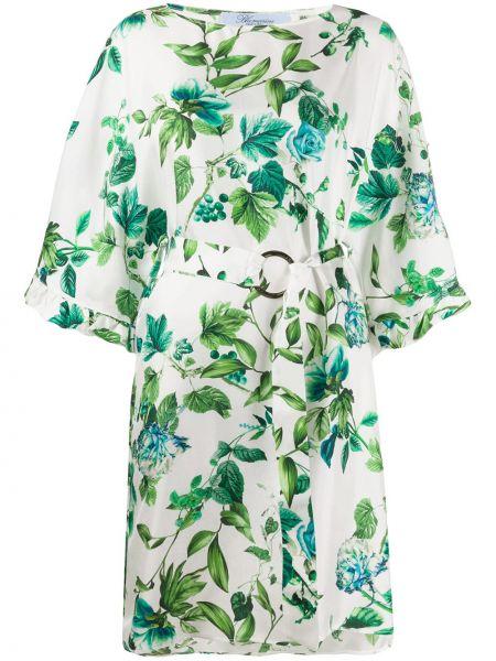 Шелковое платье - белое Blumarine