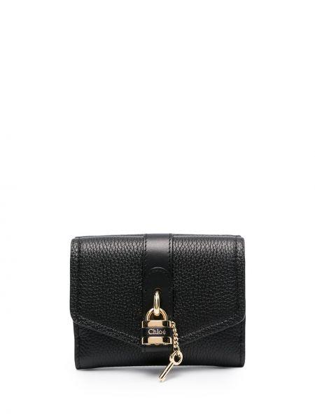 Portfel skórzany - czarny Chloe