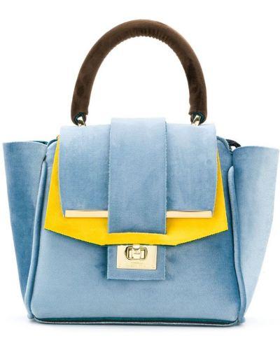 Маленькая сумка сумка-тоут бархатная Alila