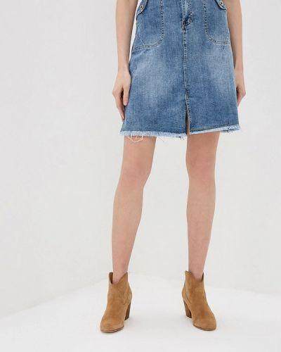 Джинсовая юбка синяя Marissimo