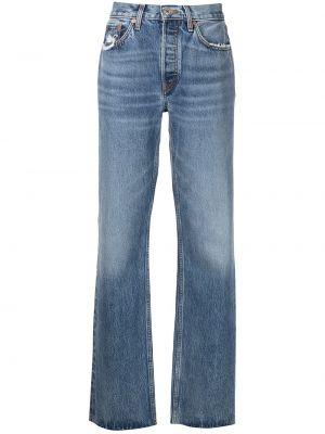 Джинсовые широкие джинсы - синие Re/done