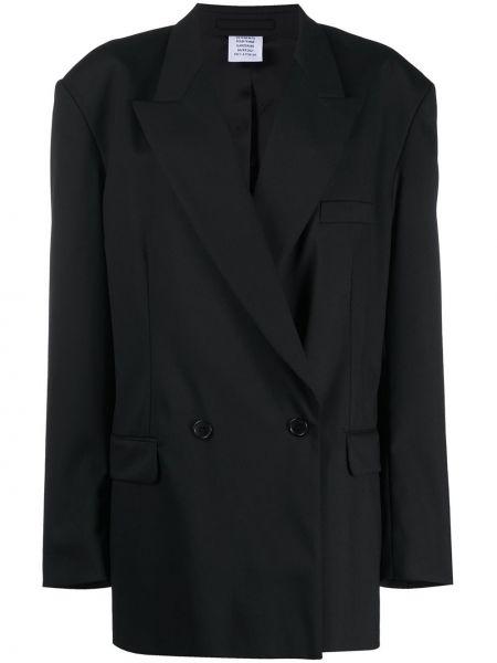 Шерстяной черный пиджак оверсайз на пуговицах Vetements