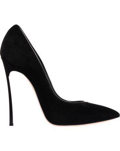 Черные туфли на каблуке Casadei