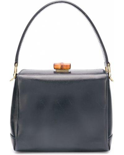 Кожаная сумка маленькая сумка-тоут Gucci Vintage
