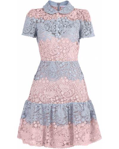 Платье на пуговицах с оборками Redvalentino