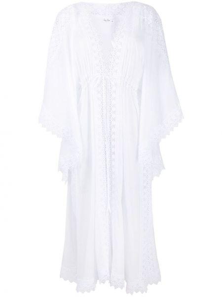 Biały kaftan bawełniany koronkowy Charo Ruiz Ibiza