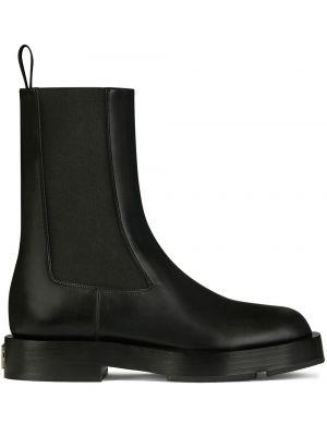 Кожаные черные ботинки челси на каблуке Givenchy