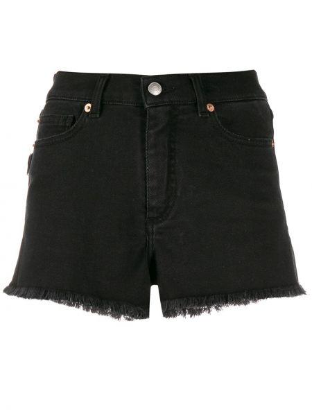Черные джинсовые шорты с карманами со стразами Zadig&voltaire
