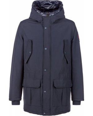 Куртка с капюшоном демисезонная синяя Aeronautica Militare