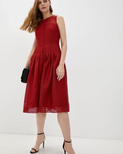 Красное повседневное платье Akris Punto