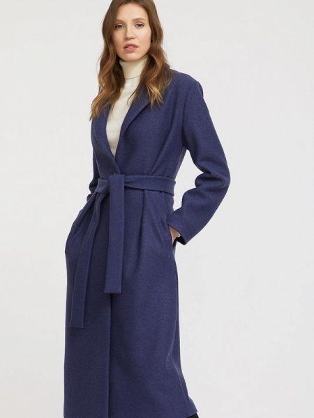 Синее пальто с капюшоном Charuel