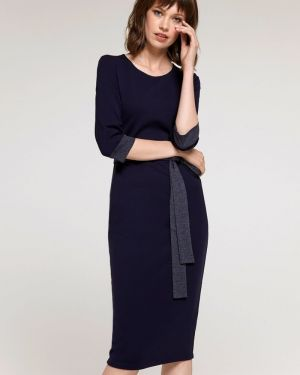 Платье с поясом футляр платье-сарафан 1001 Dress