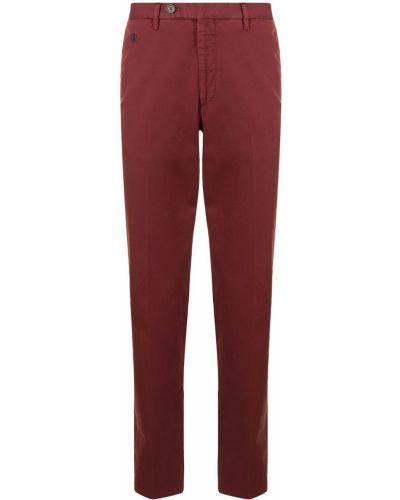 Spodnie z paskiem bawełniane z haftem Stefano Ricci