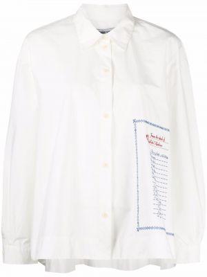 Белая рубашка с принтом Henrik Vibskov