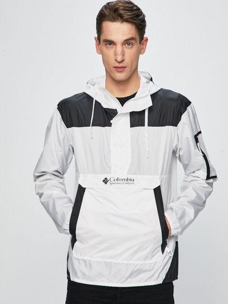 Прямая белая куртка с капюшоном Columbia