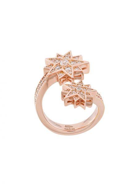 Różowy złoty pierścionek Atelier Swarovski
