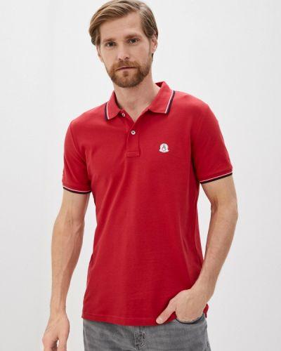 Красное с рукавами поло Giorgio Di Mare