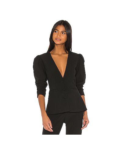 Черный пиджак с карманами из вискозы с разрезом Grlfrnd