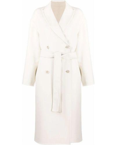 Biały płaszcz Brunello Cucinelli