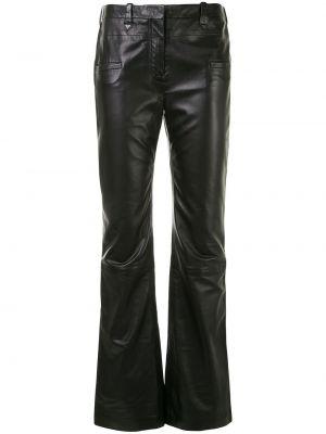 Czarne spodnie z paskiem Altuzarra
