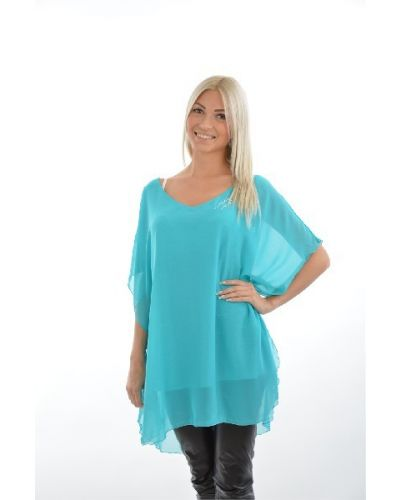 Блузка из вискозы - бирюзовая Svesta