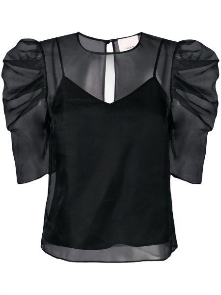 Блузка прозрачная черная Cinq A Sept