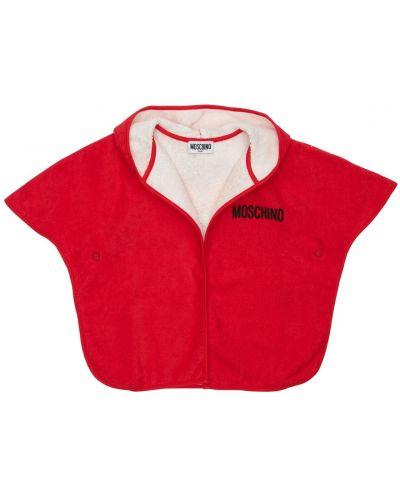 Красная накидка с капюшоном Moschino