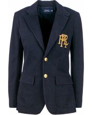 Пиджак с вышивкой синий Polo Ralph Lauren
