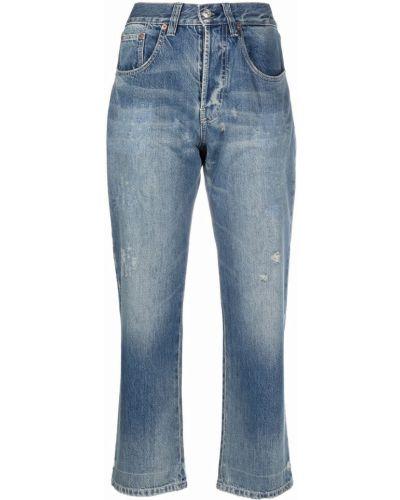 Укороченные джинсы - синие Victoria Beckham