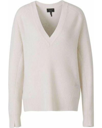 Biały sweter z dekoltem w serek Rag & Bone