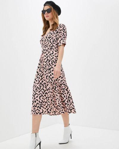 Прямое розовое платье А-силуэта Topshop