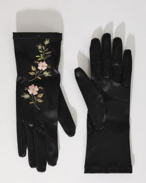 Перчатки с вышивкой Gucci