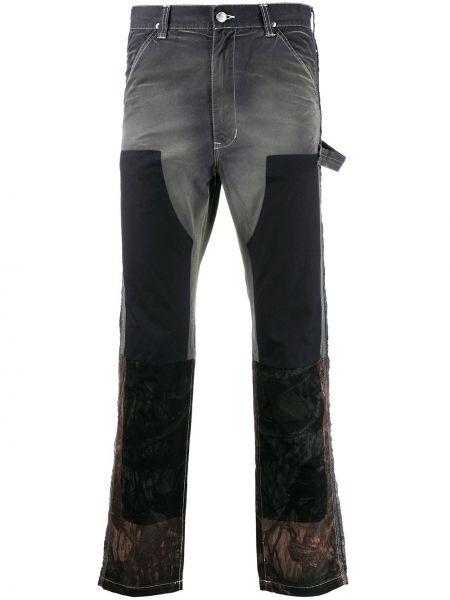 Czarne jeansy bawełniane perły Facetasm