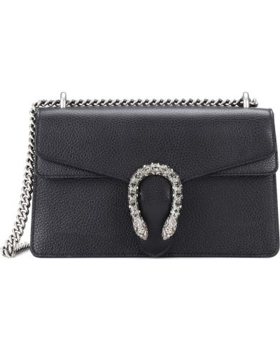 Skórzany czarny mini torebka Gucci