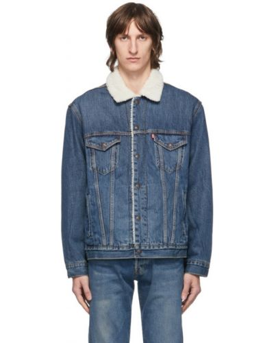 С рукавами синяя стеганая джинсовая куртка Levi's®