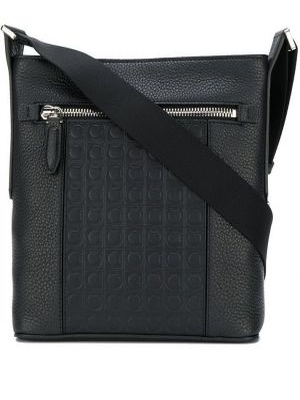 Кожаная сумка - черная Salvatore Ferragamo