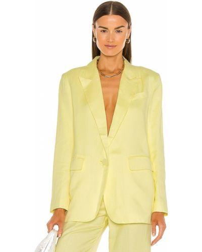 Домашний льняной желтый пиджак Bardot