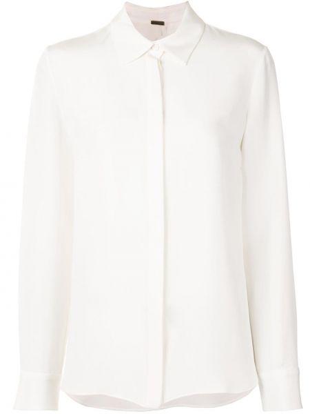 Белая шелковая рубашка Adam Lippes