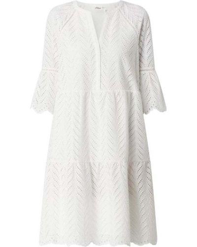 Sukienka koronkowa - biała S.oliver Black Label