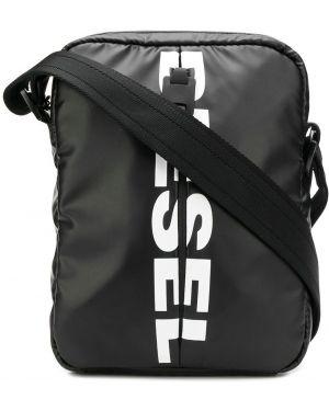 Мерцающая черная сумка через плечо Diesel