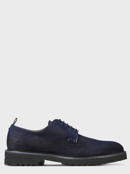 Кожаные туфли - синие Brimarts